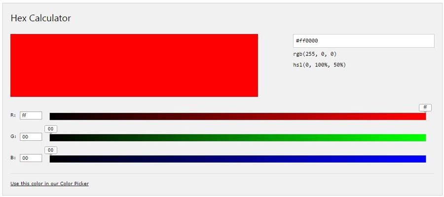 Website design, Phom Penh Cambodia colour picker hex colour calculator